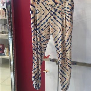 Parker silk pants...Tye dye print size 2